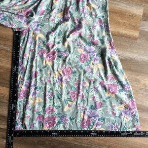 Vintage Pants - Vintage pale green floral culotte jumpsuit